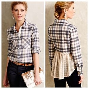 Anthropologie Holding Horses Willow Ridge Flannel
